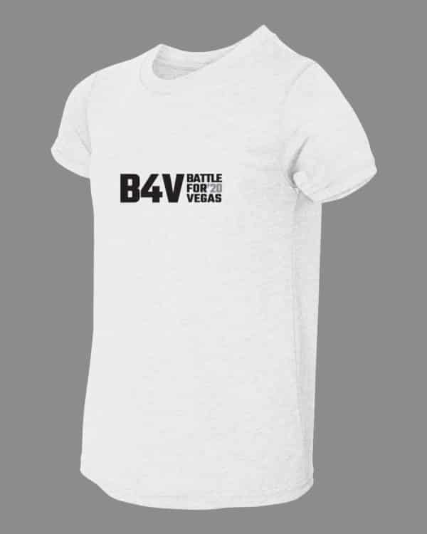 youth white and gold b4v shirt