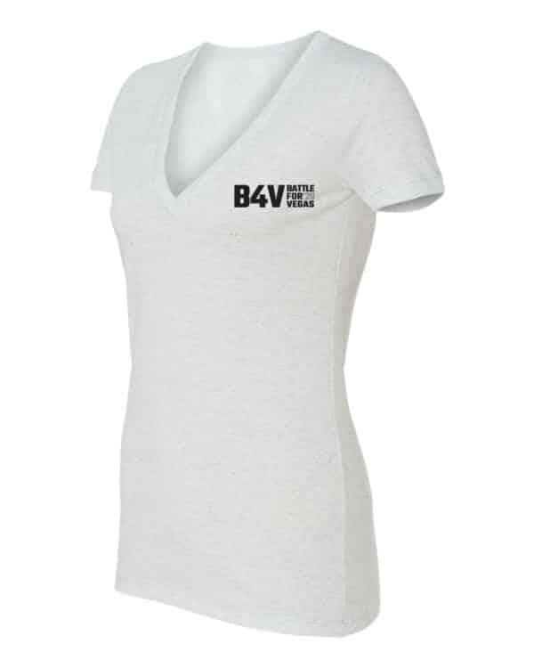 women's white and gold b4v shirt