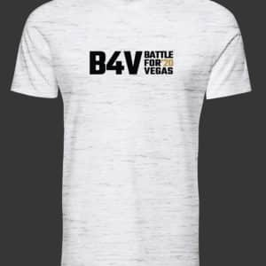 mens white and gold b4v shirt