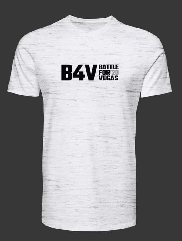 mens white and grey b4v shirt